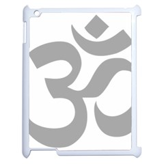 Hindu Om Symbol (light Gray) Apple Ipad 2 Case (white) by abbeyz71