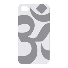 Hindu Om Symbol (light Gray) Apple Iphone 4/4s Premium Hardshell Case by abbeyz71