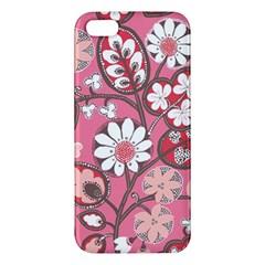 Pink Flower Pattern Iphone 5s/ Se Premium Hardshell Case by Nexatart