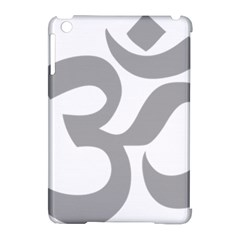 Hindu Om Symbol (light Gray) Apple Ipad Mini Hardshell Case (compatible With Smart Cover) by abbeyz71