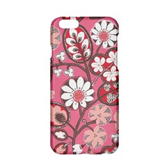 Pink Flower Pattern Apple Iphone 6/6s Hardshell Case by Nexatart