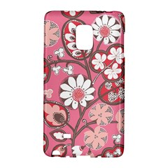 Pink Flower Pattern Galaxy Note Edge by Nexatart