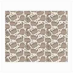 Pusheen Wallpaper Computer Everyday Cute Pusheen Small Glasses Cloth (2-Side) by Nexatart