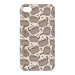 Pusheen Wallpaper Computer Everyday Cute Pusheen Apple Iphone 4/4s Premium Hardshell Case by Nexatart