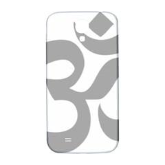 Hindu Om Symbol (light Gray) Samsung Galaxy S4 I9500/i9505  Hardshell Back Case by abbeyz71