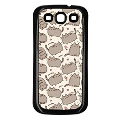 Pusheen Wallpaper Computer Everyday Cute Pusheen Samsung Galaxy S3 Back Case (black) by Nexatart
