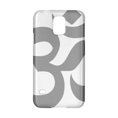 Hindu Om Symbol (light Gray) Samsung Galaxy S5 Hardshell Case  by abbeyz71