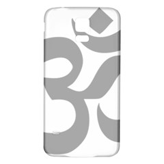 Hindu Om Symbol (light Gray) Samsung Galaxy S5 Back Case (white) by abbeyz71