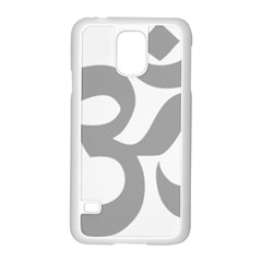 Hindu Om Symbol (light Gray) Samsung Galaxy S5 Case (white) by abbeyz71