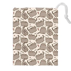 Pusheen Wallpaper Computer Everyday Cute Pusheen Drawstring Pouches (xxl) by Nexatart