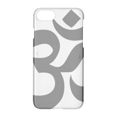 Hindu Om Symbol (light Gray) Apple Iphone 7 Hardshell Case by abbeyz71