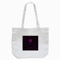Wonderful Jungle Flowers In The Dark Tote Bag (white) by pepitasart