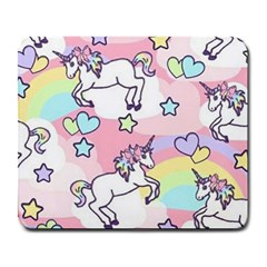 Unicorn Rainbow Large Mousepads by Nexatart
