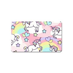 Unicorn Rainbow Magnet (name Card) by Nexatart