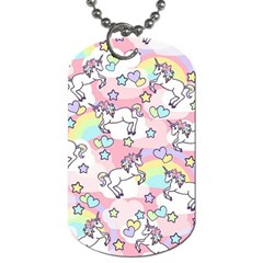 Unicorn Rainbow Dog Tag (two Sides) by Nexatart
