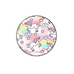 Unicorn Rainbow Hat Clip Ball Marker (4 Pack) by Nexatart