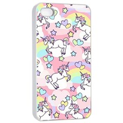 Unicorn Rainbow Apple Iphone 4/4s Seamless Case (white)