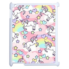 Unicorn Rainbow Apple Ipad 2 Case (white) by Nexatart