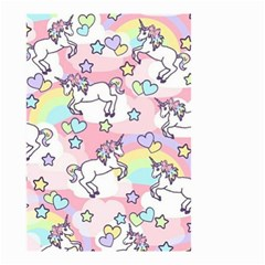 Unicorn Rainbow Small Garden Flag (two Sides) by Nexatart