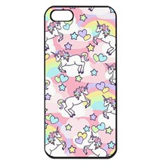 Unicorn Rainbow Apple Iphone 5 Seamless Case (black) by Nexatart