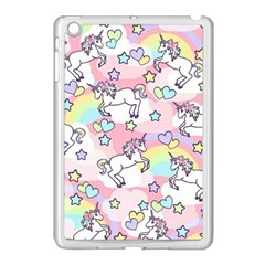 Unicorn Rainbow Apple Ipad Mini Case (white)