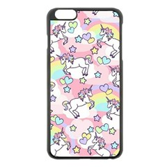 Unicorn Rainbow Apple Iphone 6 Plus/6s Plus Black Enamel Case