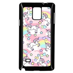 Unicorn Rainbow Samsung Galaxy Note 4 Case (black)