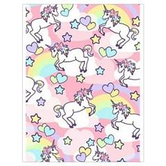 Unicorn Rainbow Drawstring Bag (large) by Nexatart