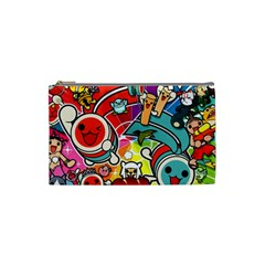 Cute Doodles Wallpaper Background Cosmetic Bag (small)  by Nexatart