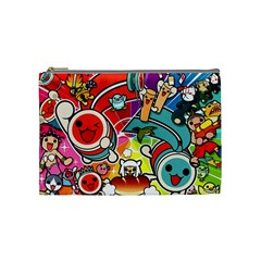Cute Doodles Wallpaper Background Cosmetic Bag (medium)  by Nexatart