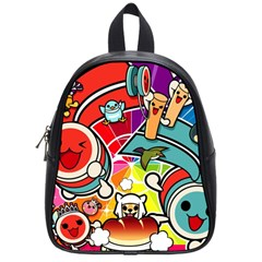 Cute Doodles Wallpaper Background School Bags (small)  by Nexatart
