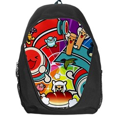 Cute Doodles Wallpaper Background Backpack Bag by Nexatart