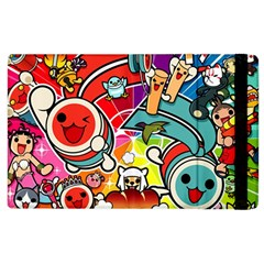 Cute Doodles Wallpaper Background Apple Ipad 2 Flip Case by Nexatart