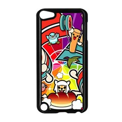 Cute Doodles Wallpaper Background Apple Ipod Touch 5 Case (black) by Nexatart