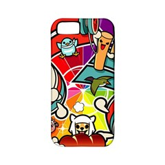 Cute Doodles Wallpaper Background Apple Iphone 5 Classic Hardshell Case (pc+silicone)