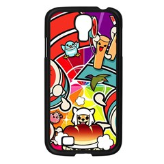 Cute Doodles Wallpaper Background Samsung Galaxy S4 I9500/ I9505 Case (black) by Nexatart