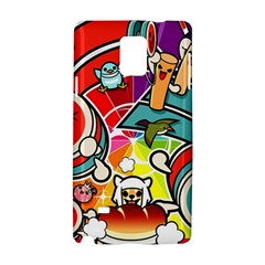 Cute Doodles Wallpaper Background Samsung Galaxy Note 4 Hardshell Case