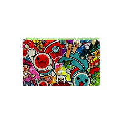 Cute Doodles Wallpaper Background Cosmetic Bag (xs) by Nexatart