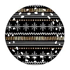 Kawaii Pattern Round Filigree Ornament (two Sides) by Nexatart
