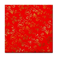 Golden Swrils Pattern Background Tile Coasters by Nexatart