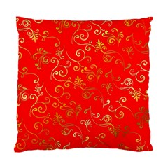 Golden Swrils Pattern Background Standard Cushion Case (one Side)