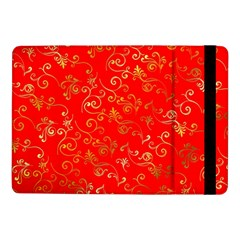Golden Swrils Pattern Background Samsung Galaxy Tab Pro 10 1  Flip Case