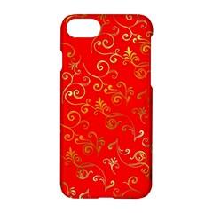 Golden Swrils Pattern Background Apple Iphone 7 Hardshell Case