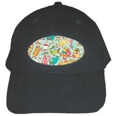 Summer Up Pattern Black Cap by Nexatart