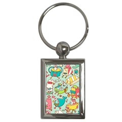 Summer Up Pattern Key Chains (rectangle)