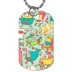 Summer Up Pattern Dog Tag (one Side)