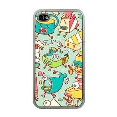Summer Up Pattern Apple Iphone 4 Case (clear)