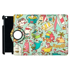 Summer Up Pattern Apple Ipad 2 Flip 360 Case