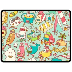 Summer Up Pattern Double Sided Fleece Blanket (large)  by Nexatart