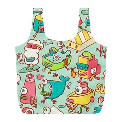 Summer Up Pattern Full Print Recycle Bags (l)